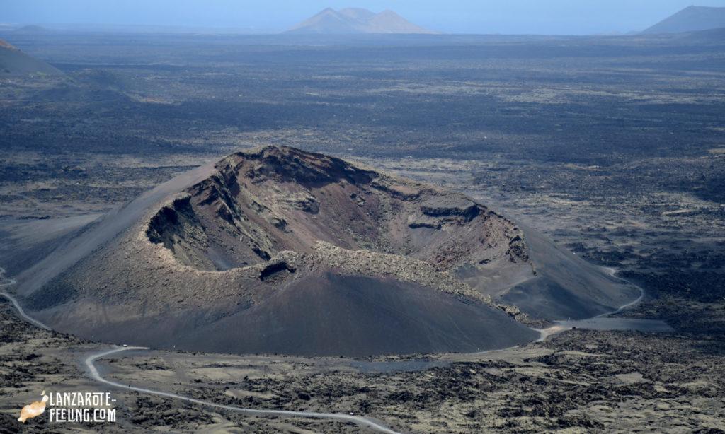 La Caldera de los Cuervos - emblematischer Vulkan auf Lanzarote
